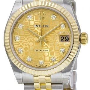 Rolex Datejust 31 178273-0013 Kello Samppanja / Teräs