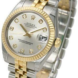 Rolex Datejust 31 178273-0015 Kello Hopea / Teräs