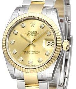 Rolex Datejust 31 178273-0018 Kello Samppanja / Teräs