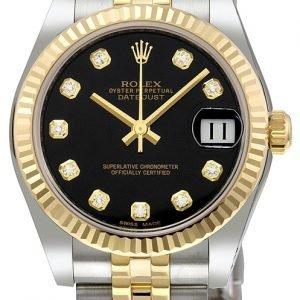 Rolex Datejust 31 178273-0020 Kello Musta / Teräs
