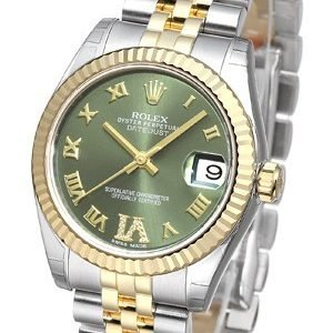 Rolex Datejust 31 178273-0090 Kello Vihreä / Teräs