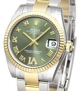 Rolex Datejust 31 178273-0095 Kello Vihreä / Teräs