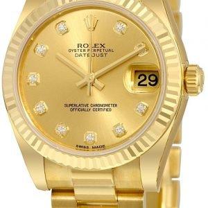 Rolex Datejust 31 178278-0018 Kello Samppanja / 18k Keltakultaa