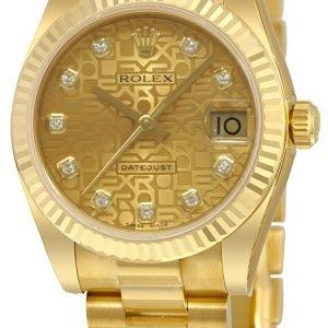Rolex Datejust 31 178278-0021 Kello Samppanja / 18k Keltakultaa