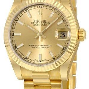 Rolex Datejust 31 178278-0025 Kello Samppanja / 18k Keltakultaa
