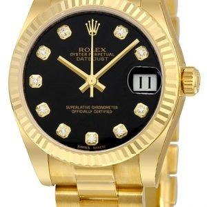 Rolex Datejust 31 178278-0065 Kello Musta / 18k Keltakultaa