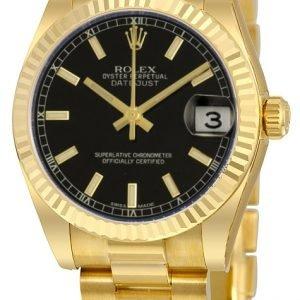 Rolex Datejust 31 178278-0068 Kello Musta / 18k Keltakultaa