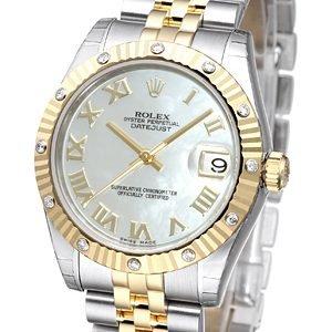 Rolex Datejust 31 178313-0002 Kello Valkoinen / Teräs