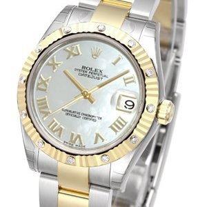 Rolex Datejust 31 178313-0033 Kello Valkoinen / Teräs