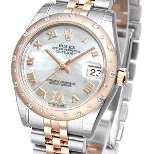 Rolex Datejust 31 178341-0007 Kello Valkoinen / Teräs