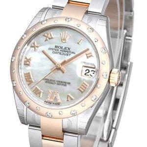 Rolex Datejust 31 178341-0012 Kello Valkoinen / Teräs