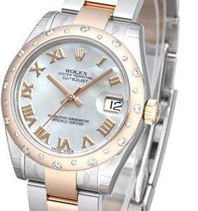 Rolex Datejust 31 178341-0014 Kello Valkoinen / Teräs