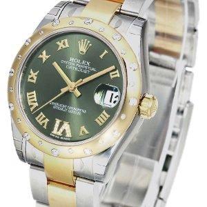 Rolex Datejust 31 178343-0001 Kello Vihreä / Teräs