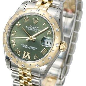Rolex Datejust 31 178343-0011 Kello Vihreä / Teräs