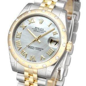 Rolex Datejust 31 178343-0015 Kello Valkoinen / Teräs