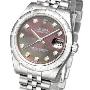 Rolex Datejust 31 178344-0008 Kello Musta / Teräs