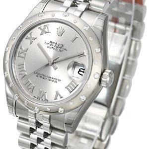 Rolex Datejust 31 178344-0010 Kello Hopea / Teräs