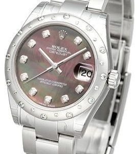 Rolex Datejust 31 178344-0015 Kello Musta / Teräs
