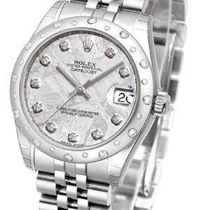 Rolex Datejust 31 178344-0020 Kello Hopea / Teräs