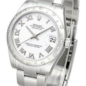 Rolex Datejust 31 178344-0028 Kello Valkoinen / Teräs