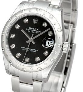 Rolex Datejust 31 178344-0030 Kello Musta / Teräs