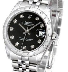 Rolex Datejust 31 178344-0062 Kello Musta / Teräs