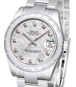 Rolex Datejust 31 178344-0066 Kello Hopea / Teräs