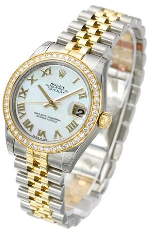 Rolex Datejust 31 178383-0003 Kello Valkoinen / Teräs
