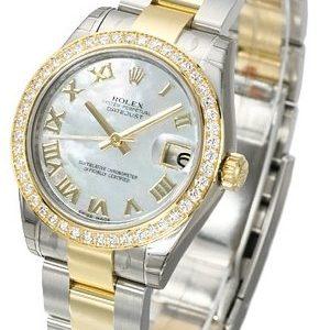 Rolex Datejust 31 178383-0015 Kello Valkoinen / Teräs