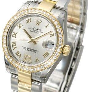 Rolex Datejust 31 178383-0019 Kello Hopea / Teräs