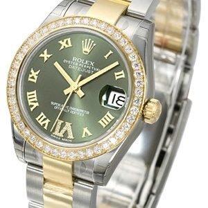 Rolex Datejust 31 178383-0043 Kello Vihreä / Teräs