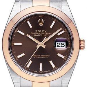Rolex Datejust 41 126301-0001 Kello Ruskea / 18k Punakultaa