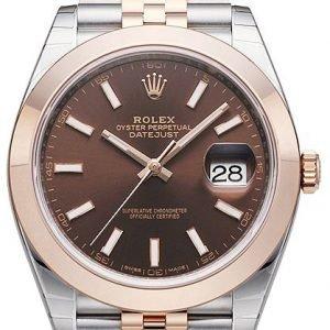 Rolex Datejust 41 126301-0002 Kello Ruskea / 18k Punakultaa