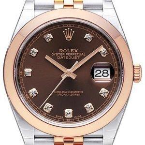 Rolex Datejust 41 126301-0004 Kello Ruskea / 18k Punakultaa