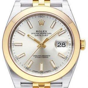 Rolex Datejust 41 126303-0002 Kello Hopea / 18k Keltakultaa