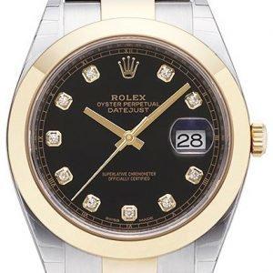 Rolex Datejust 41 126303-0005 Kello Musta / 18k Keltakultaa