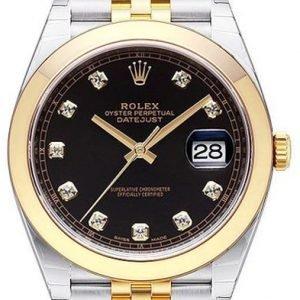 Rolex Datejust 41 126303-0006 Kello Musta / 18k Keltakultaa
