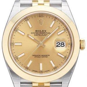 Rolex Datejust 41 126303-0010 Kello Kullattu / 18k Keltakultaa