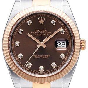 Rolex Datejust 41 126331-0003 Kello Ruskea / 18k Punakultaa