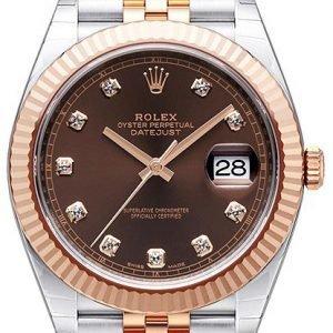 Rolex Datejust 41 126331-0004 Kello Ruskea / 18k Punakultaa