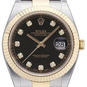 Rolex Datejust 41 126333-0005 Kello Musta / 18k Keltakultaa