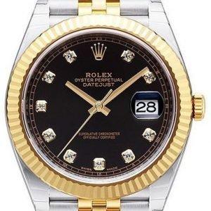 Rolex Datejust 41 126333-0006 Kello Musta / 18k Keltakultaa