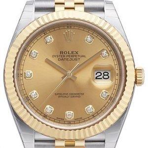 Rolex Datejust 41 126333-0012 Kello Kullattu / 18k Keltakultaa