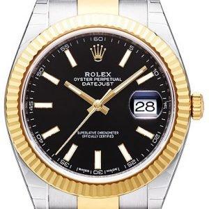 Rolex Datejust 41 126333-0013 Kello Musta / 18k Keltakultaa