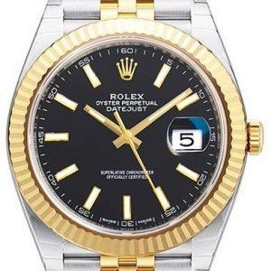 Rolex Datejust 41 126333-0014 Kello Musta / 18k Keltakultaa