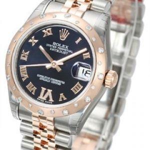 Rolex Datejust Lady 178341-0008 Kello Violetti / Teräs