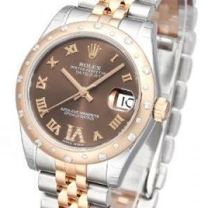 Rolex Datejust Lady 178341-0009 Kello Ruskea / Teräs