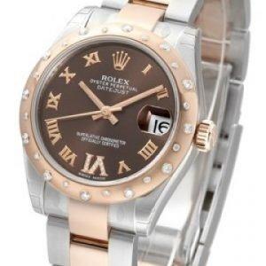 Rolex Datejust Lady 178341-0010 Kello Ruskea / Teräs