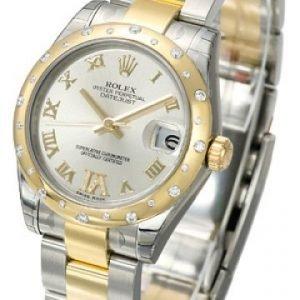 Rolex Datejust Lady 178343-0002 Kello Hopea / Teräs