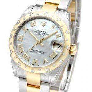 Rolex Datejust Lady 178343-0007 Kello Hopea / Teräs